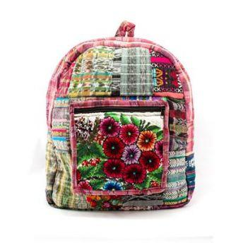 Lucia's World Emporium Fair Trade Handmade Guatemalan Chichi Patch Backpack