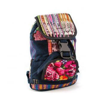 Lucia's World Emporium Fair Trade Handmade Mini Patch Backpack from Guatemala