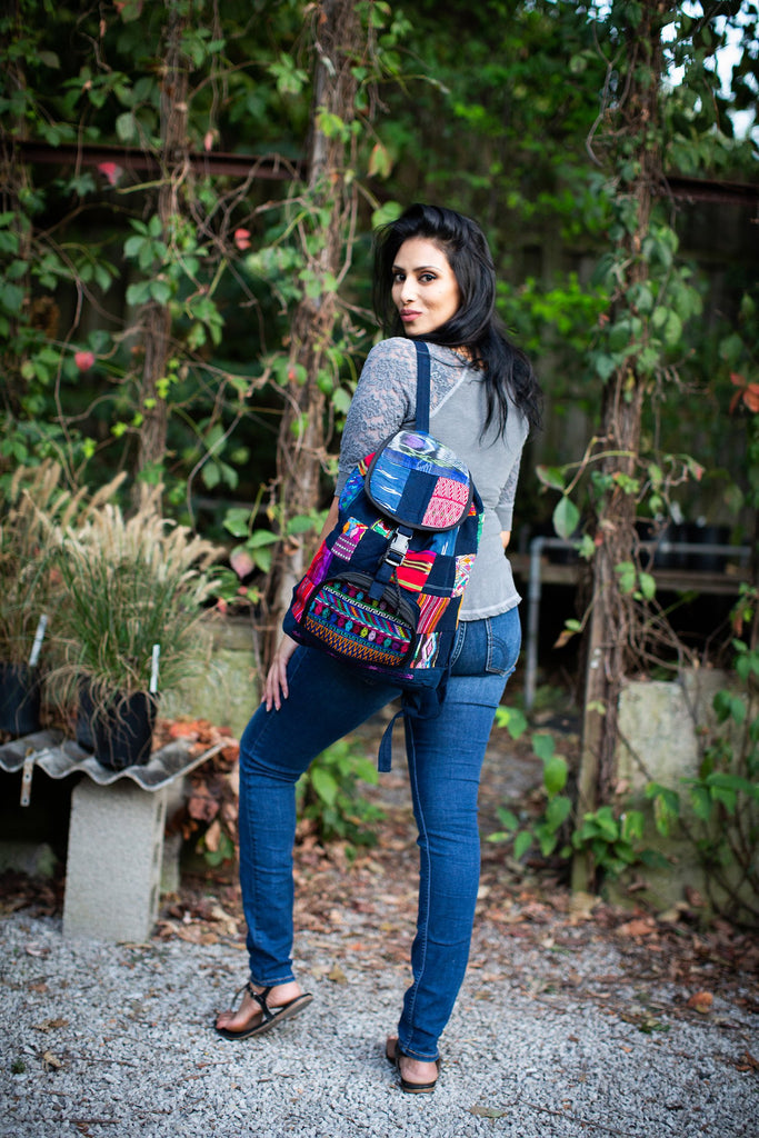 Lucia's World Emporium Fair Trade Handmade Guatemalan Patch Backpack