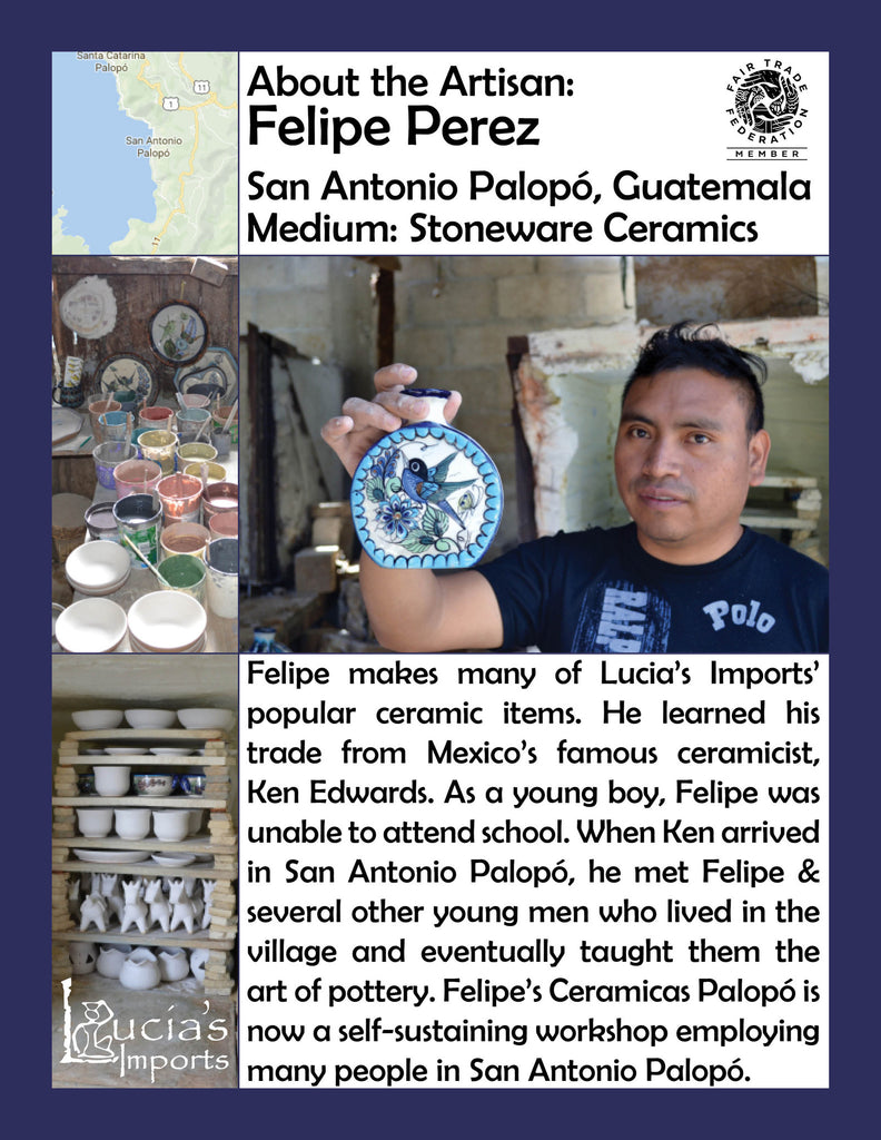 Lucia's World Emporium Fair Trade Handmade Guatemalan Ceramic Artisan Info