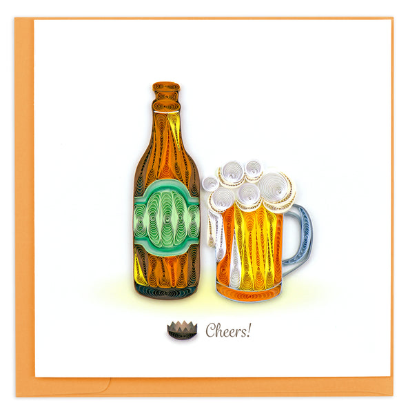 Quilling Card Beer Birthday