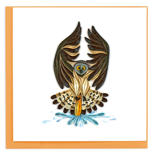 Quilling Card Hunting Owl
