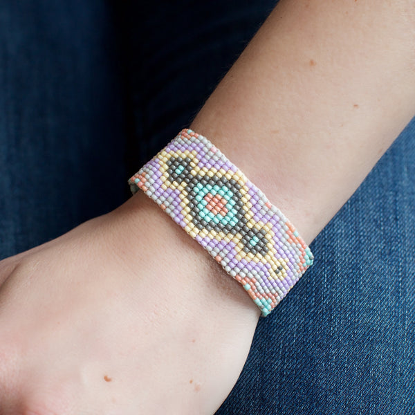 Lucia's World Emporium Fair Trade Handmade Guatemalan Medium Beaded Friendship Bracelet