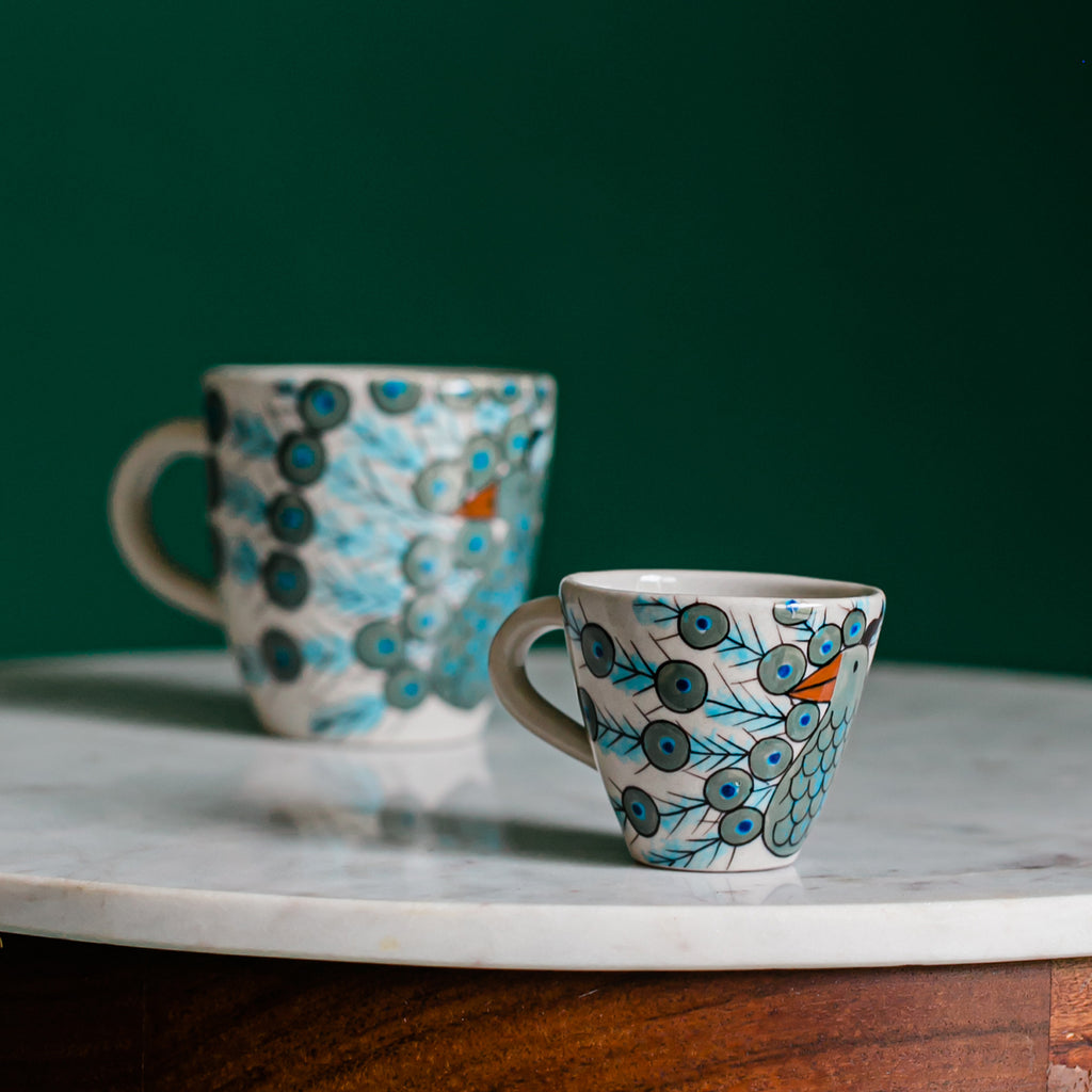 Peacock Espresso Cup Fair Trade Guatemalan