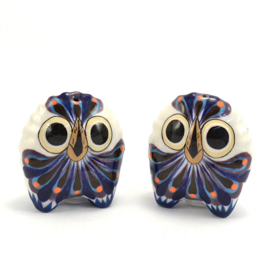 Lucia's World Emporium Fair Trade Handmade Guatemalan Ceramic Owl Salt & Pepper Shaker Set
