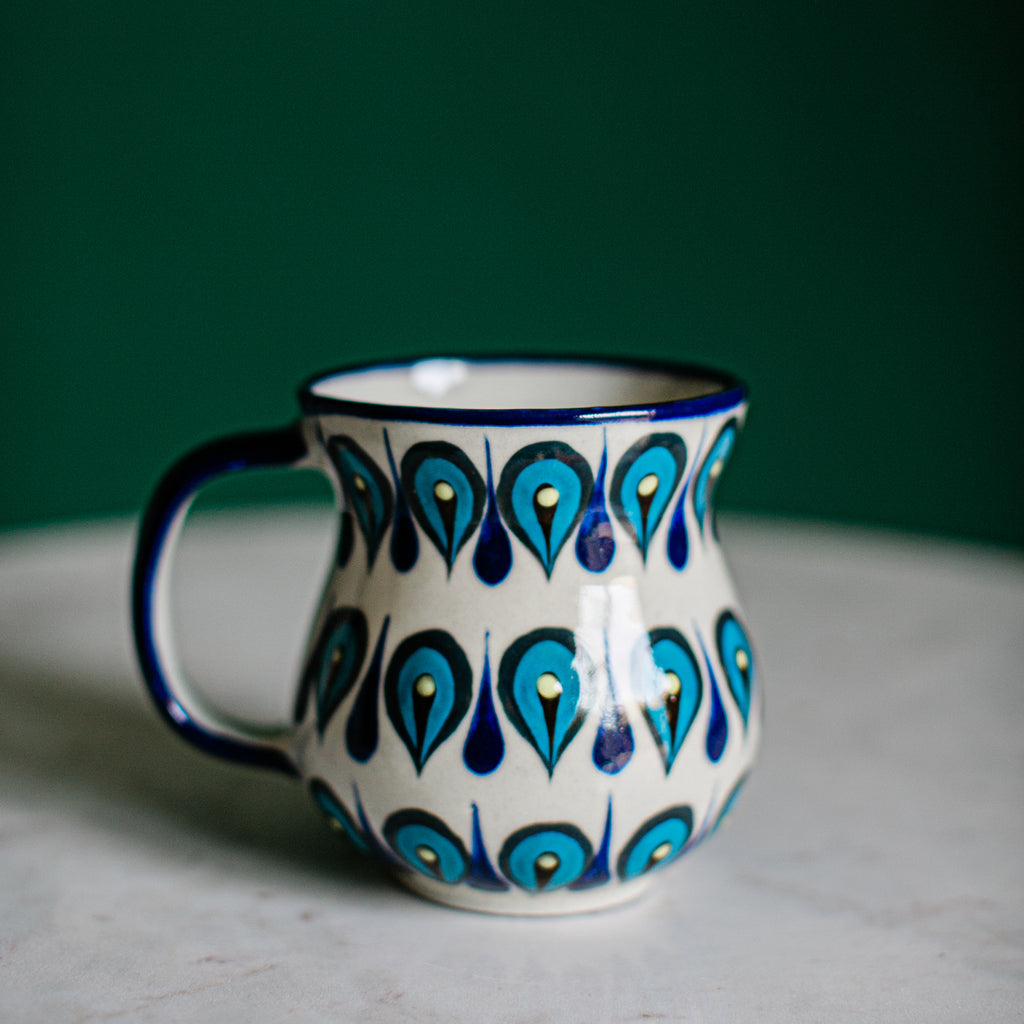 Fair Trade Handmade Guatemalan Ceramic San Antonio Palopo Coffee Cup Mug
