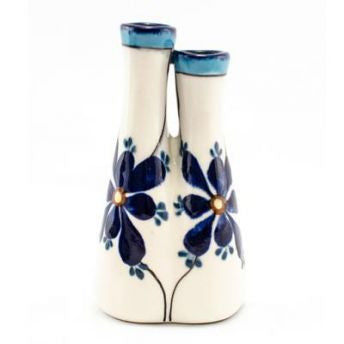 Lucia's World Emporium Fair Trade Handmade Guatemalan Ceramic Double Bud Vase