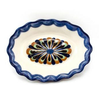 Lucia's World Emporium Fair Trade Handmade Guatemalan Ceramic Tapas Oval Dipping Bowl