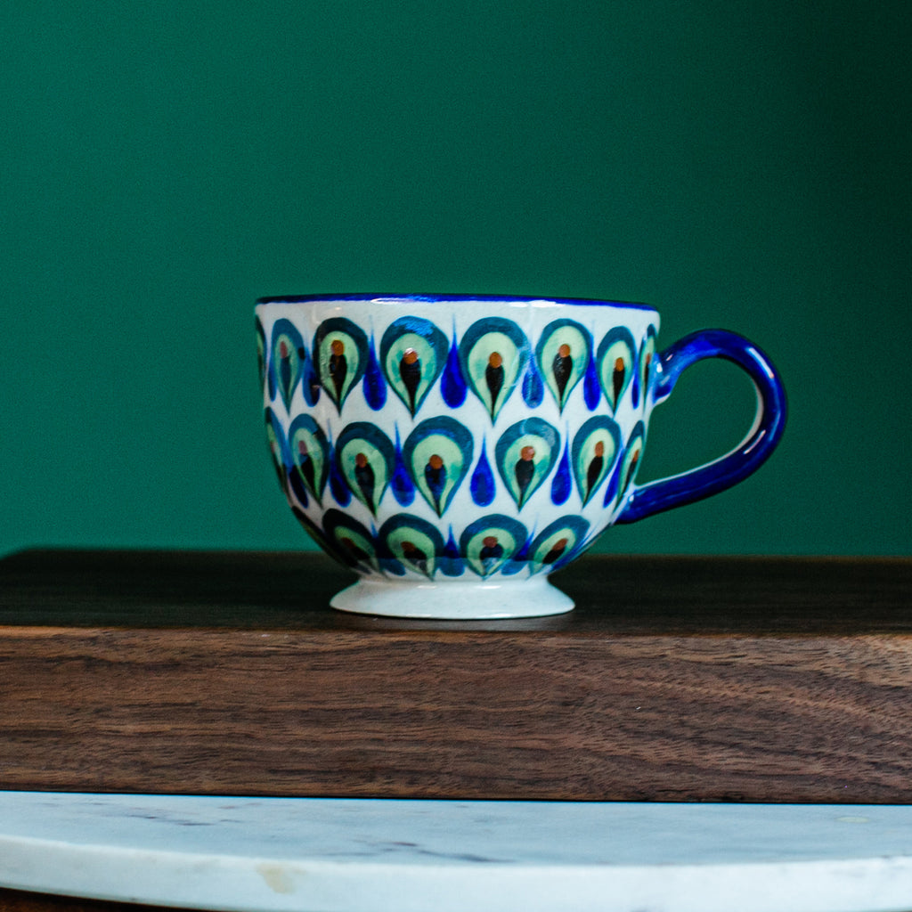 Hand painted Guatemalan Cuppuccino cup. Fair Trade