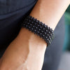 Lucia's World Emporium Fair Trade Handmade Beaded Emma Cuff from Guatemala in Black