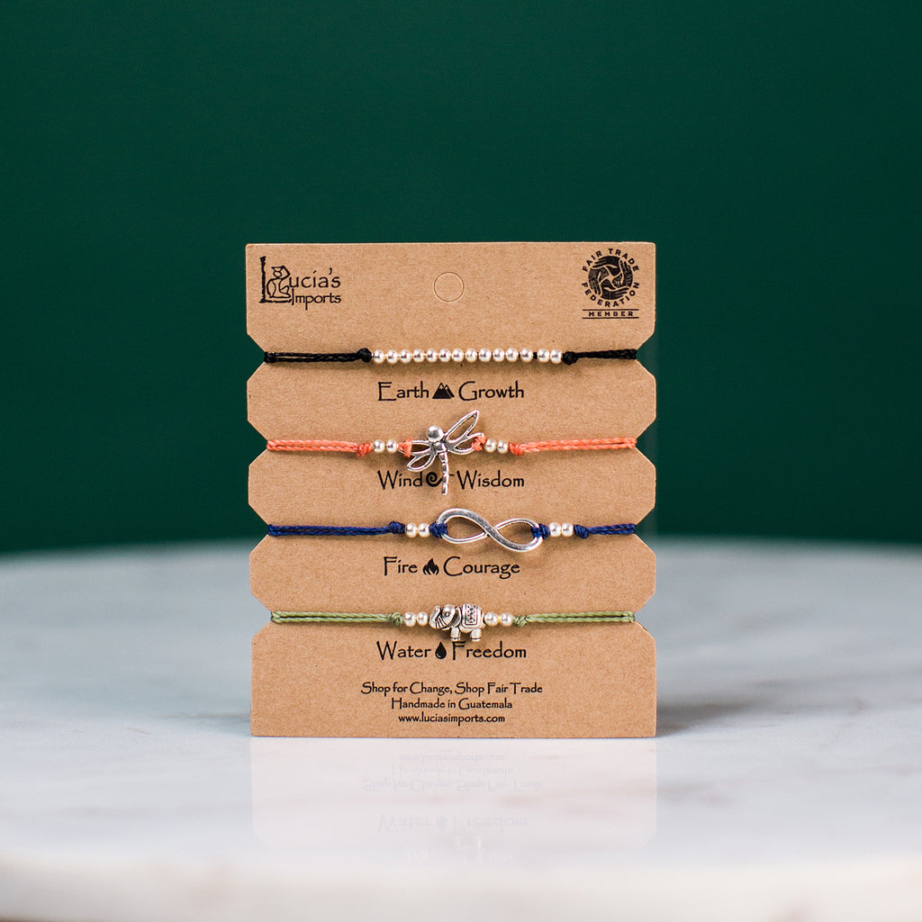 Fair Trade Freedom Charm Bracelet set made in Guatemala