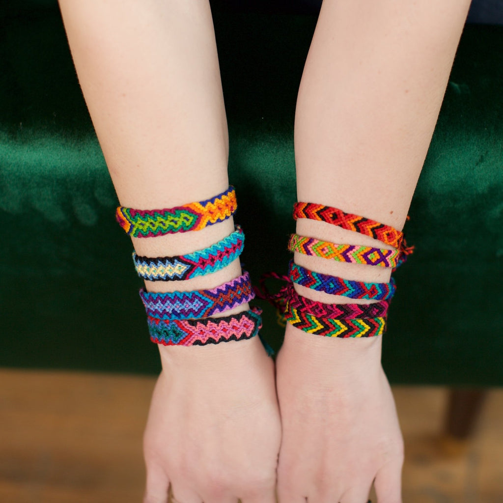 Lucia's World Emporium Fair Trade Handmade Guatemalan Woven Friendship Bracelet