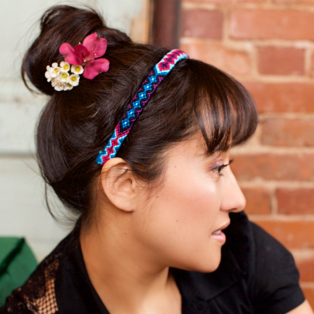 Lucia's World Emporium Fair Trade Handmade Woven Friendship Headband from Guatemala