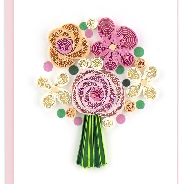 Quilling Card Flwr Bouquet Note