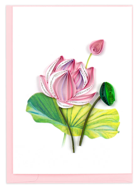 Quilling Lotus Note Card