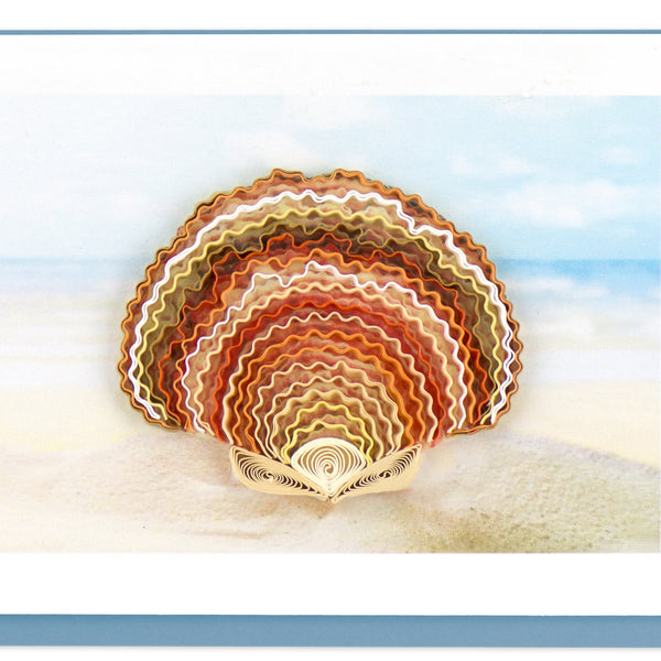 Quilling Card Scallop Shel Note