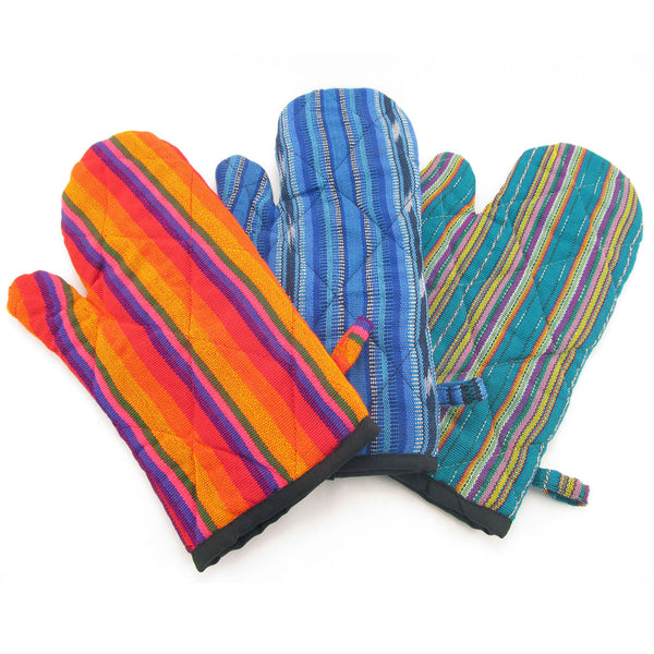 Lucia's World Emporium Fair Trade Handmade Guatemalan Fabric Oven Mitt