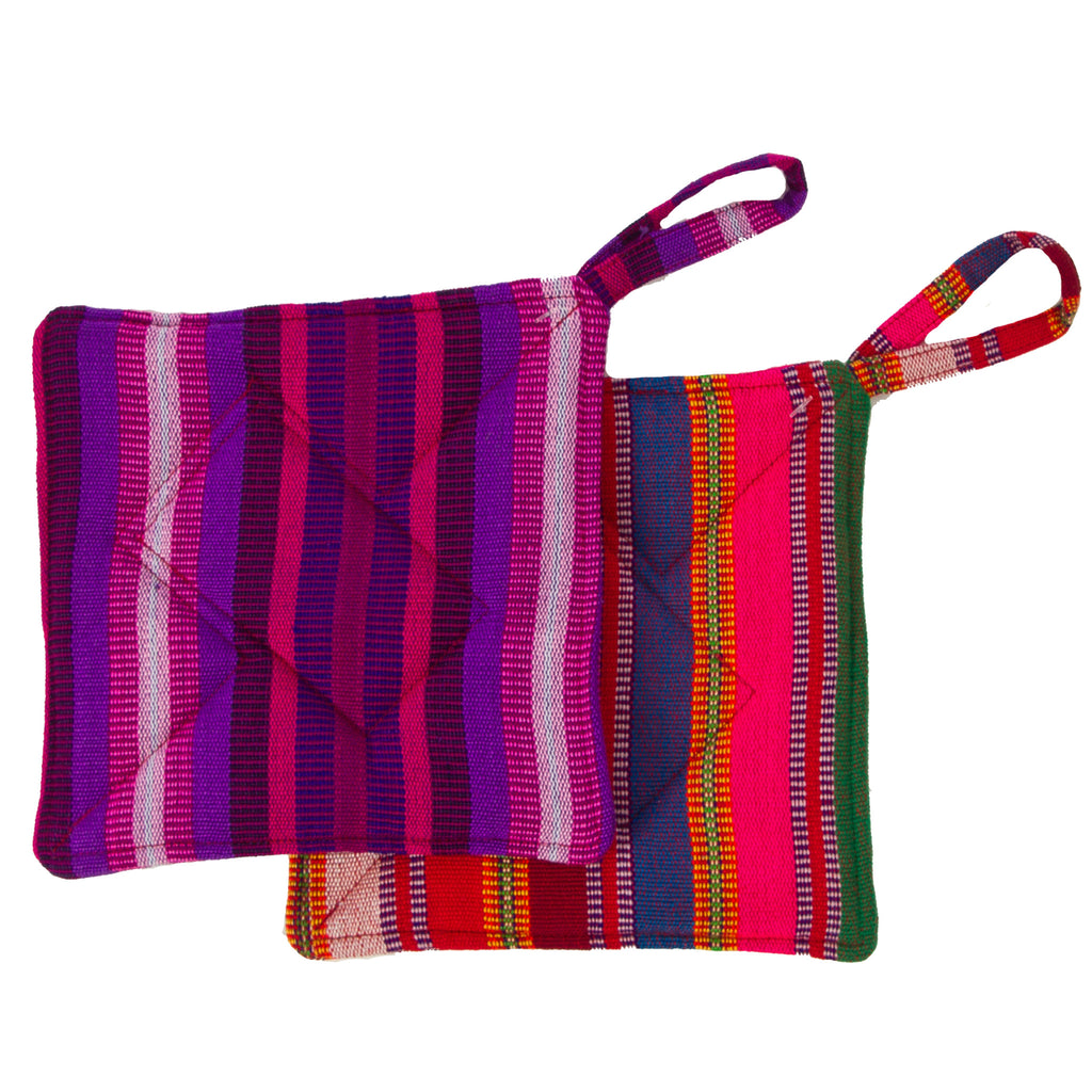 Lucia's World Emporium Fair Trade Handmade Guatemalan Fabric Potholder