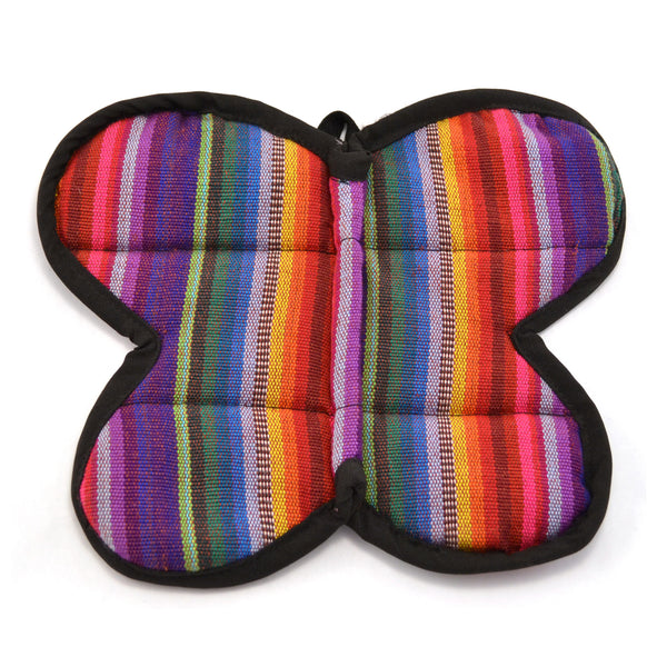 Lucia's World Emporium Fair Trade Handmade Guatemalan Woven Butterfly Potholder