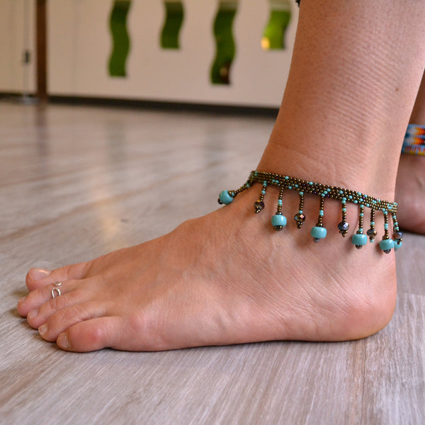 Guatemalan Beach ball anklet