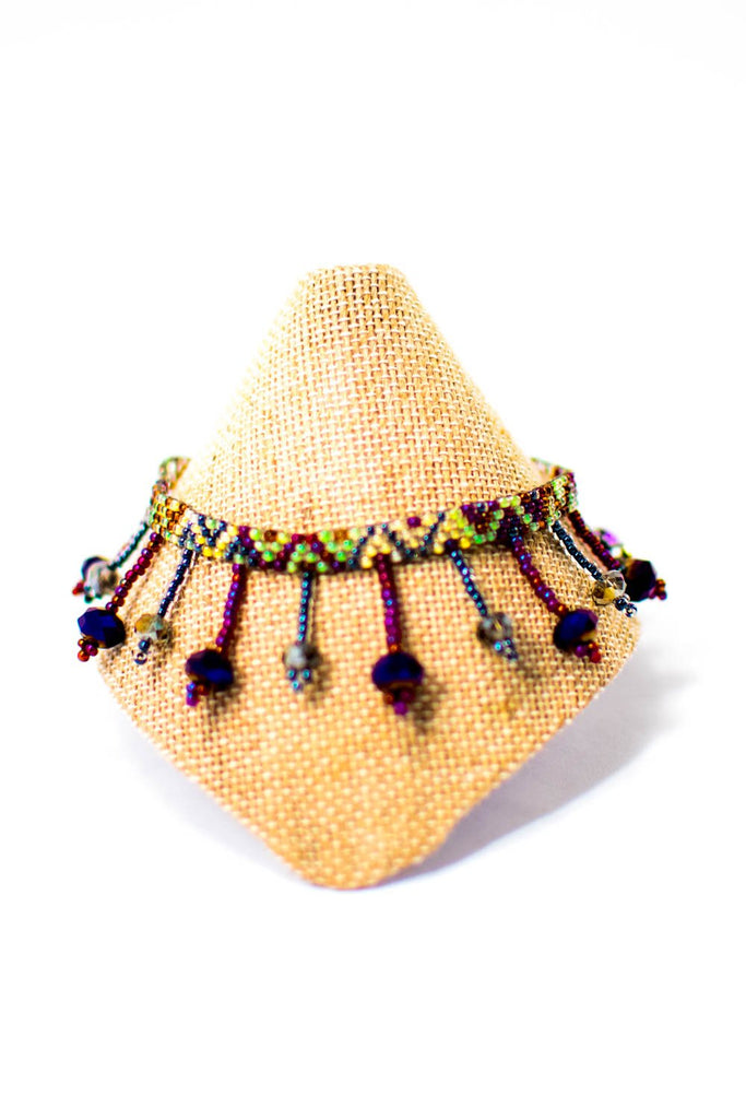 Lucia's World Emporium Fair Trade Handmade Beaded Beach Ball Anklet from Guatemala