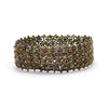 Lucia's World Emporium Fair Trade Handmade Beaded Emma Cuff from Guatemala in Brown