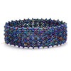 Lucia's World Emporium Fair Trade Handmade Beaded Emma Cuff from Guatemala in Blue