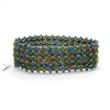 Lucia's World Emporium Fair Trade Handmade Beaded Emma Cuff from Guatemala in Green