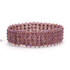 Lucia's World Emporium Fair Trade Handmade Beaded Emma Cuff from Guatemala in Purple