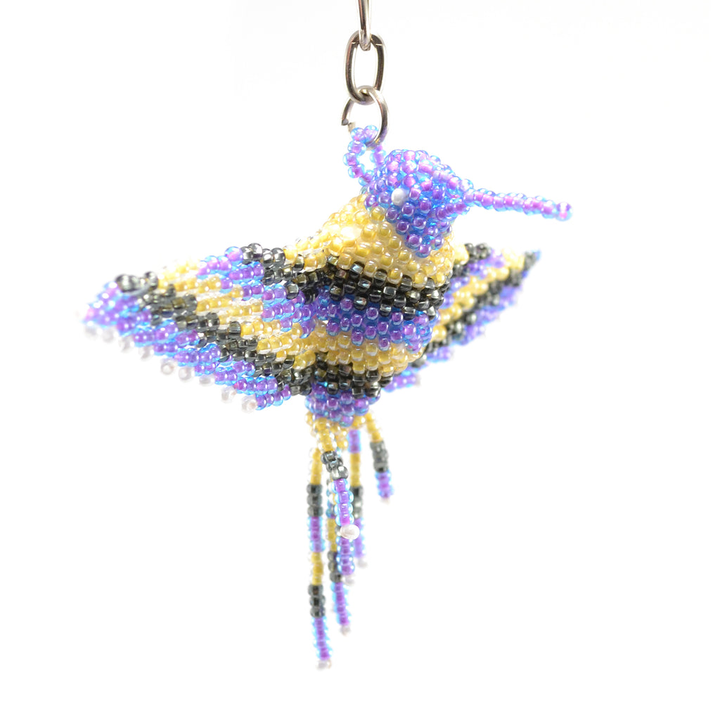 beaded hummingbird keychain