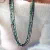 Lucia's World Emporium Fair Trade Handmade Long Rock Candy Necklace from Guatemala in Teal