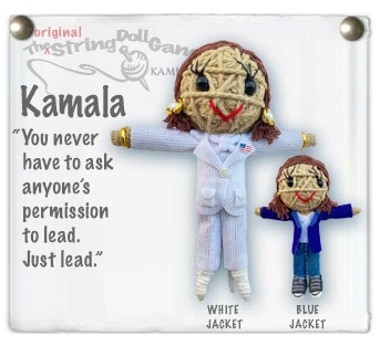 Kamala Harris String Doll Keychain Fair Trade