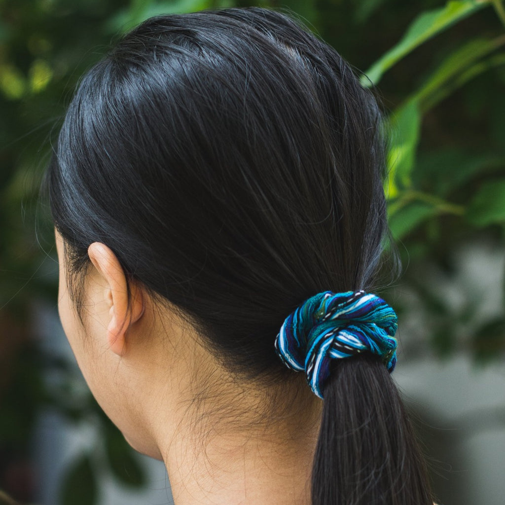 Fair trade Guatemalan hair scrunchie pony tail holder