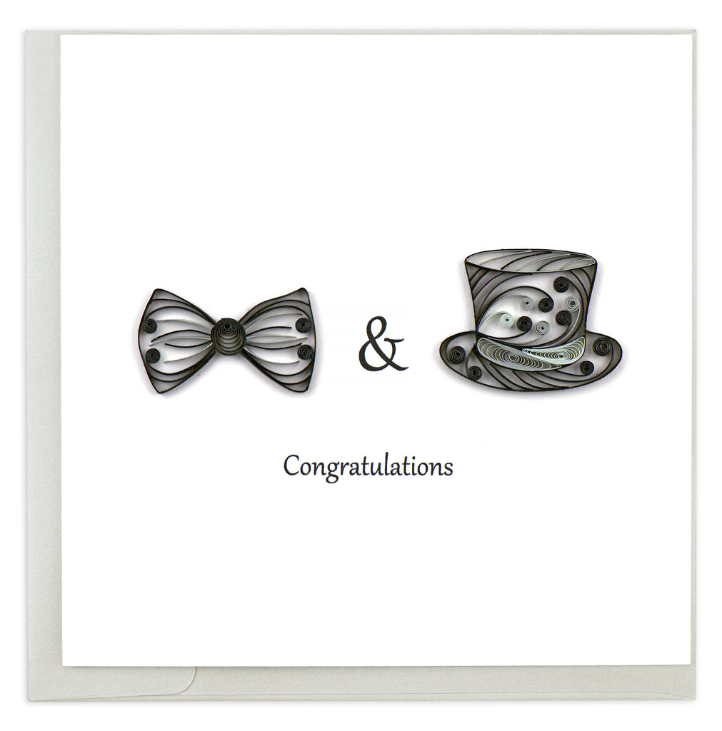 Quilling Card Two Grooms