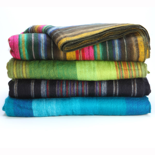 Fair Trade Large Acrylic Blanket, Ecuador