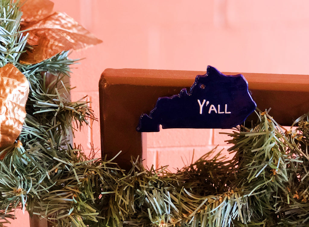 Kentucky Map Ornament/Magnet Y'all
