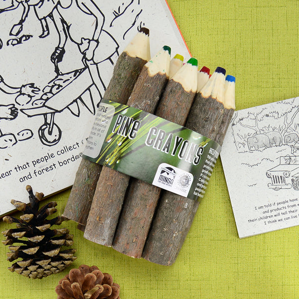 Fair Trade Pine Crayon Bundle, Ecuador