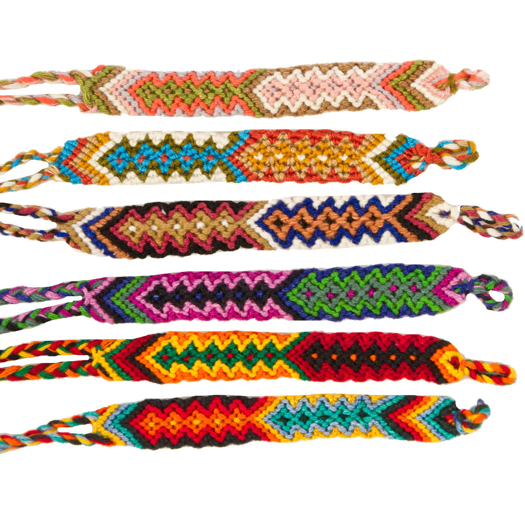 Lucia's World Emporium Fair Trade Handmade Wide Cotton Friendship Bracelet from Guatemala