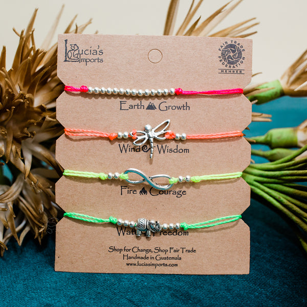 Freedom String Charm Bracelets Set - Carded