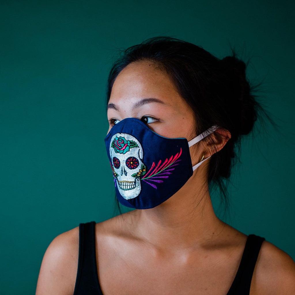 Sugar Skull Handmade Face Mask Fair Trade