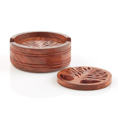 Fair Trade Tree of Life Coaster Set
