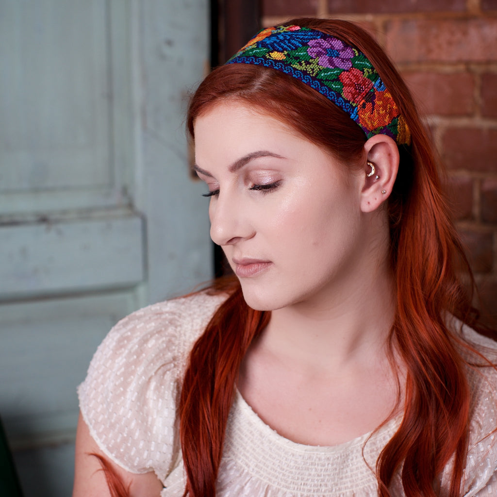 Lucia's World Emporium Fair Trade Handmade Guatemalan Upcycled Headband
