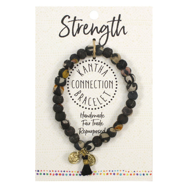 Black Connection Bracelet - Strength