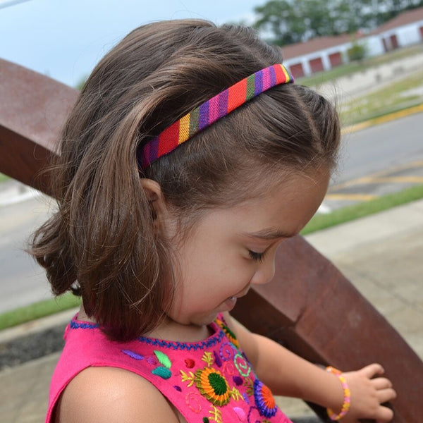 Lucia's World Emporium Fair Trade Handmade Guatemalan Woven Girls' Fabric Headband