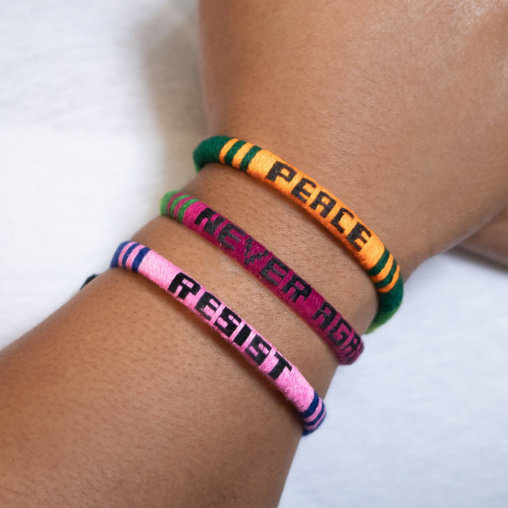 Lucia's World Emporium Fair Trade Handmade Woven Resist Bracelet from Guatemala
