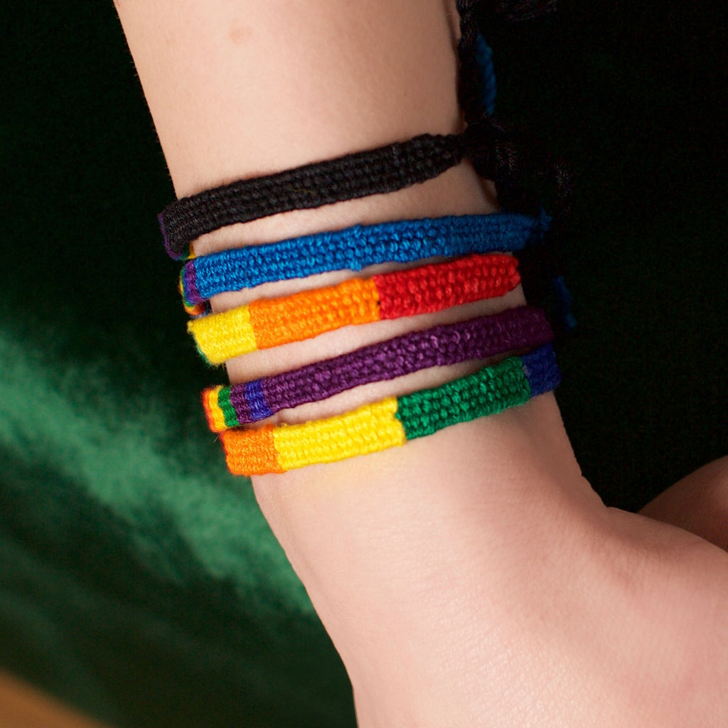Lucia's World Emporium Fair Trade Handmade Rainbow San Antonio Bracelet from Guatemala