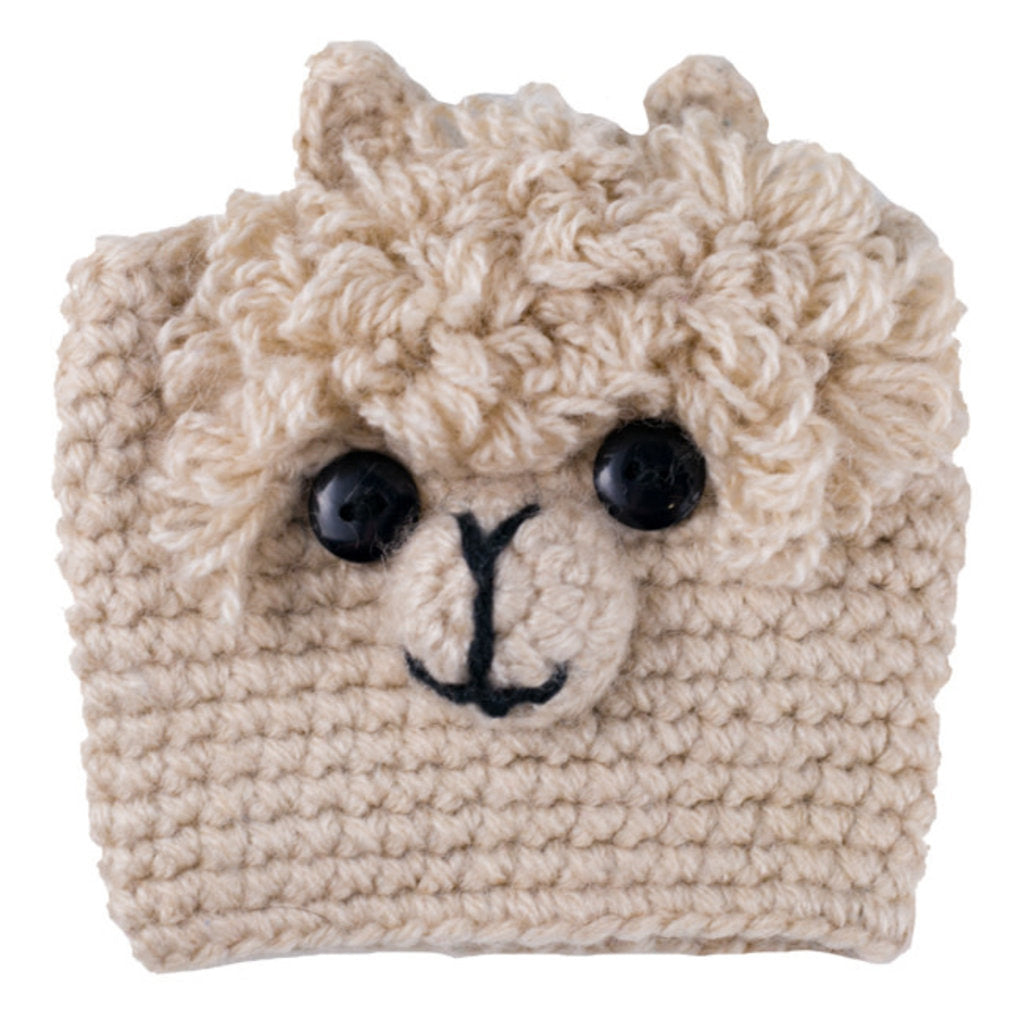 Fair Trade Cup cozie, Alpaca, from Peru and Bolivia