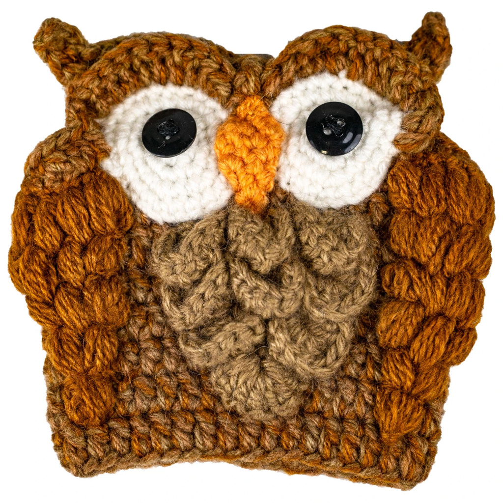 Fair Trade Cup cozie, Owl, from Peru and Bolivia