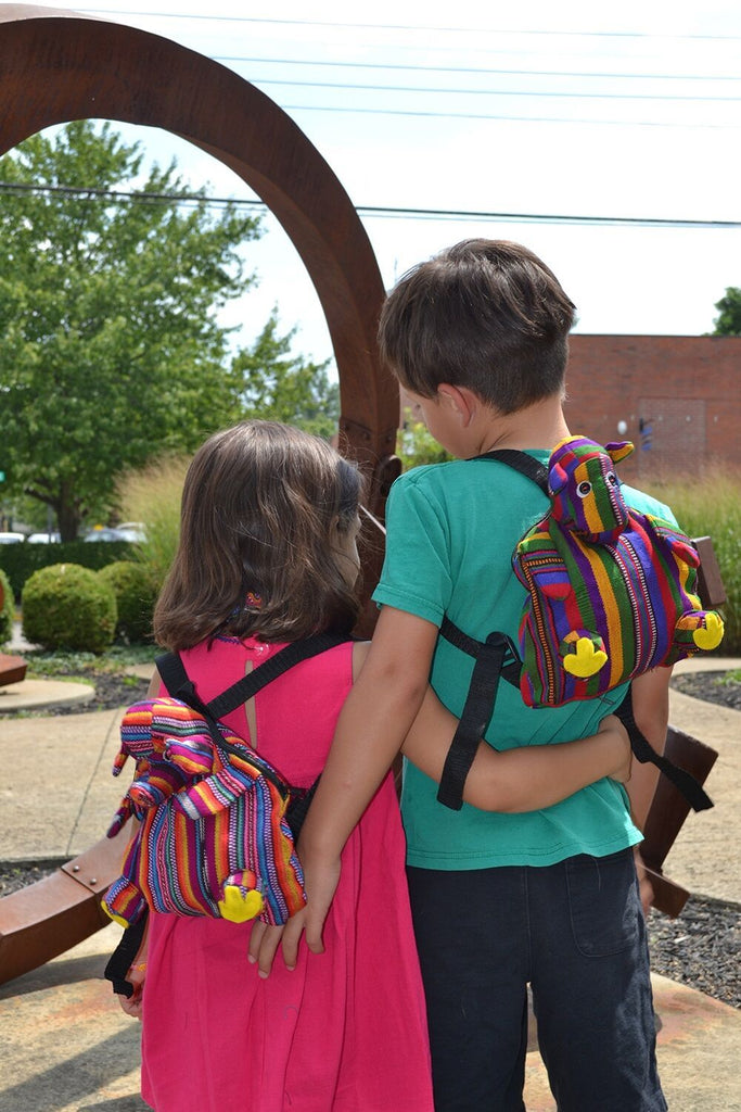 Lucia's World Emporium Fair Trade Handmade Toddler Animal Backpack from Guatemala
