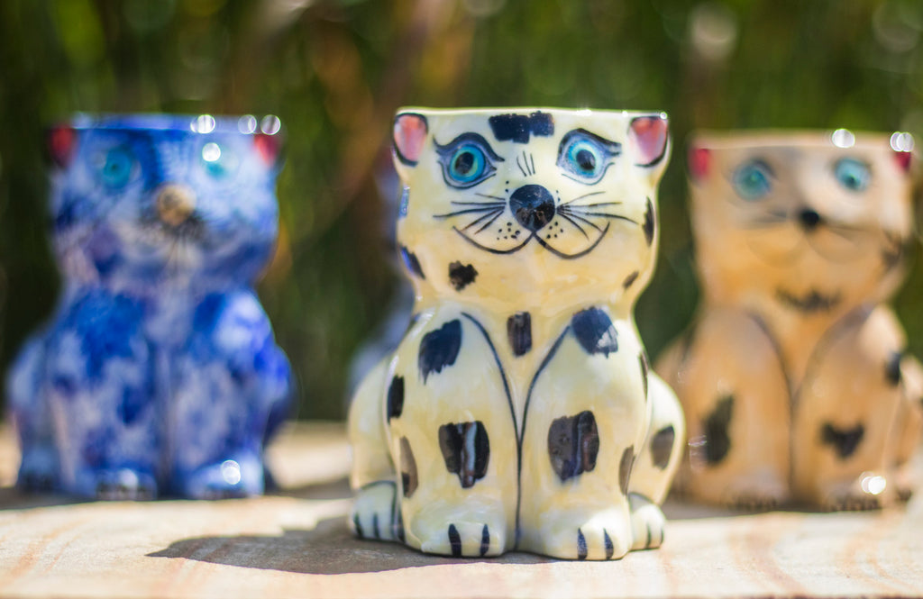 Fair Trade Handmade Ceramic Guatemalan Cat Coffee Mug